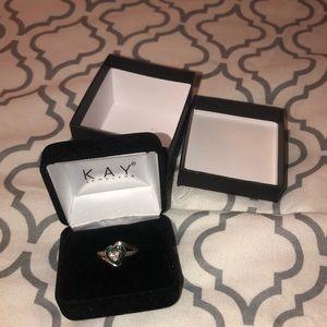Kay Jewelers Emerald Heart Ring
